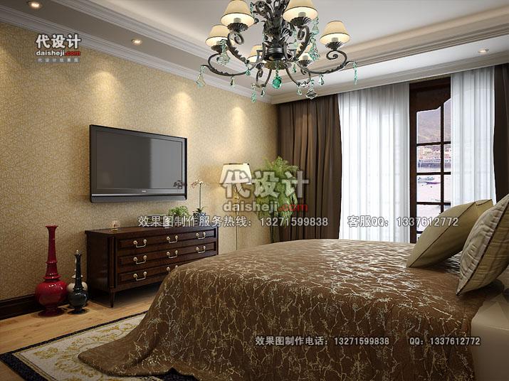 卧室空间效果图角度02