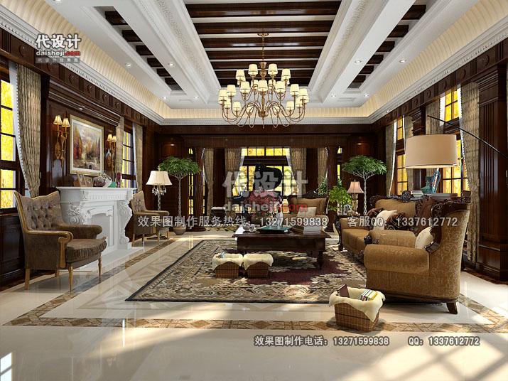 客厅效果图设计22