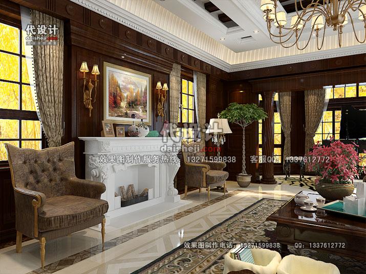 客厅效果图设计23