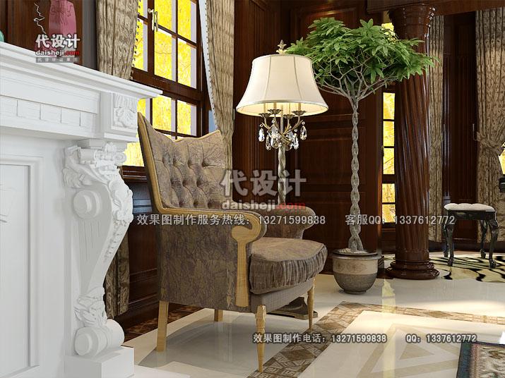 客厅效果图设计24