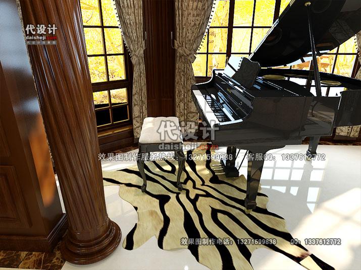 客厅效果图设计27
