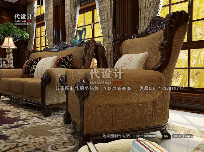 客厅效果图设计26