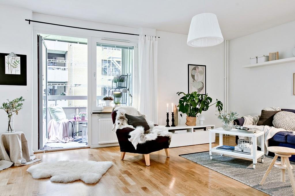 自然舒適溫馨自然的北歐公寓室內設計