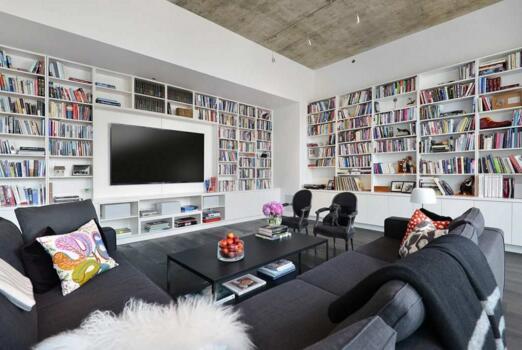芝加哥顶层低调奢华的轻工业现代空间室内设计