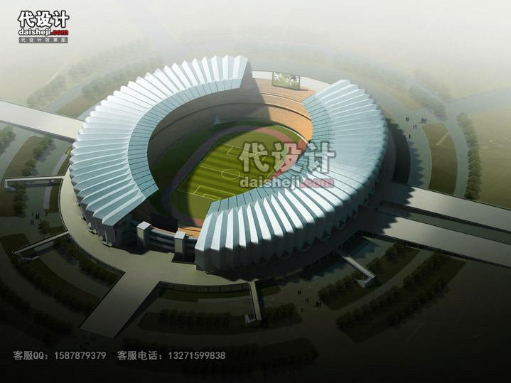 体育场鸟瞰效果图sw00113