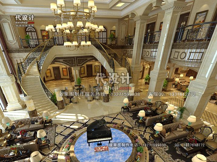 酒店空间设计效果图