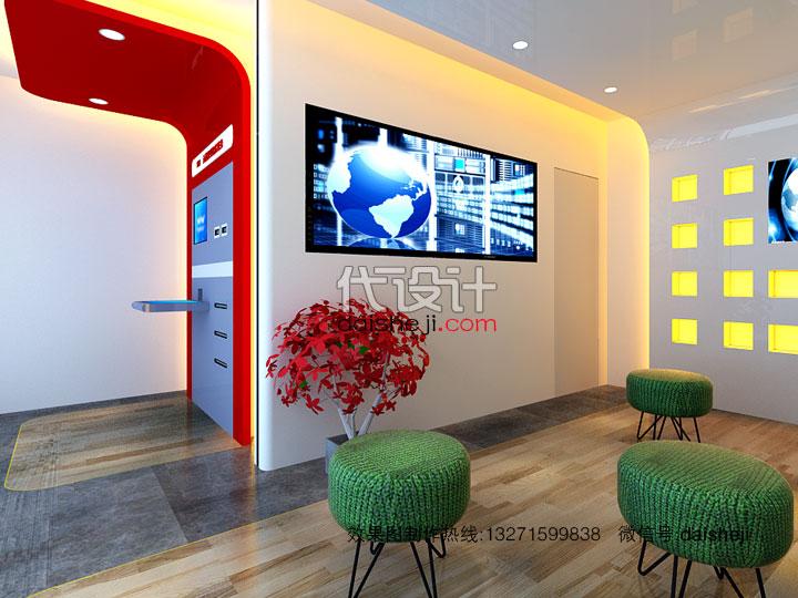 银行空间设计效果图表现视角二