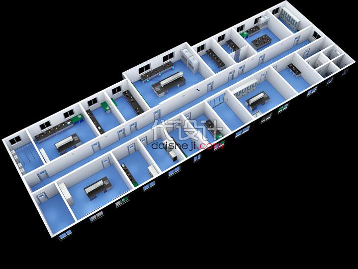 实验室鸟瞰效果图167282