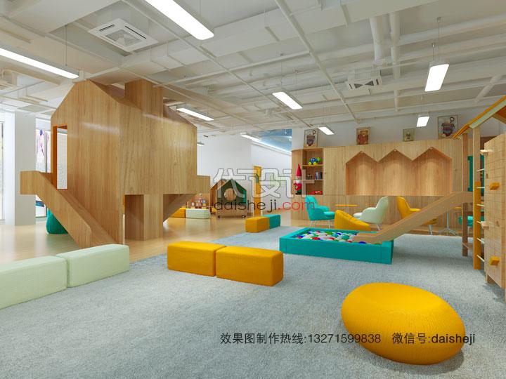 幼儿园活动区域效果图设计168221