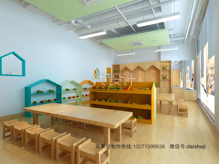 幼儿园活动空间效果图8222