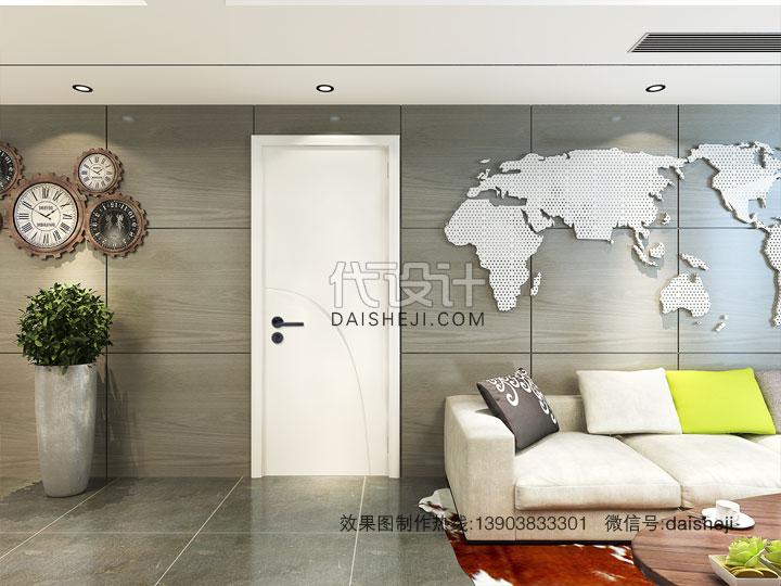 现代客厅效果图制作