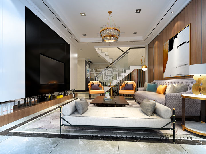 现代客厅效果图设计制作