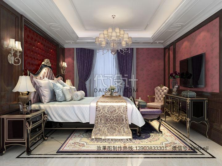 欧式卧室效果图设计