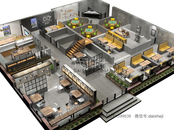 餐饮空间效果图
