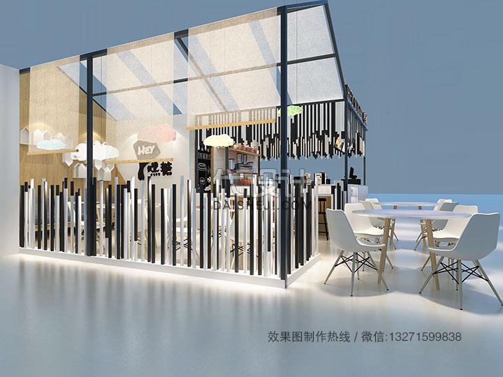 奶茶店设计表现
